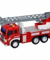 Speelgoed brandweerwagen met licht effecten en sirenegeluid 27 5 x 10 x 14 cm