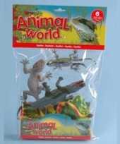 Speelgoed dieren zes reptielen