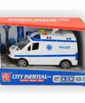 Speelgoed politie bus met licht en geluid 14 cm