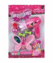 Speelgoed schoonheidsproducten donkerroze voor meisjes