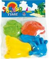 Speelgoed strand zandvormen figuren 6 delig