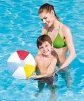 Speelgoed strandbal gekleurd 30 cm