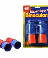 Speelgoed verrekijker rood blauw voor kinderen