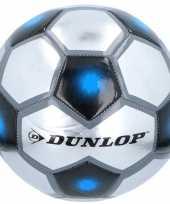 Speelgoed voetbal grijs zilver blauw 23 cm