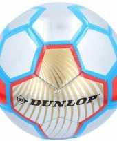 Speelgoed voetbal rood zilver blauw 23 cm