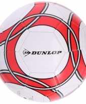 Speelgoed voetbal wit rood 21 cm voor kinderen volwassenen 10194897