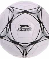 Speelgoed voetbal wit zwart 21 cm voor kinderen volwassenen