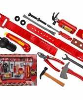 Stoer brandweerman speelgoed 17 delig